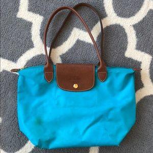 Teal Longchamp bag
